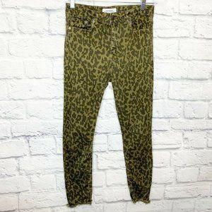 Zara Woman Skinny Jeans Animal Cheetah Print